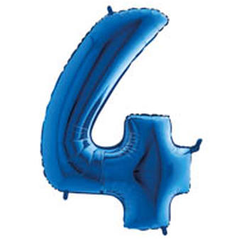 "Palloni Megaloon numbers ""4"" Blue"