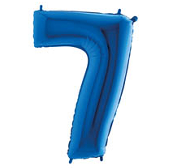 "Palloni Megaloon numbers ""7"" Blue"
